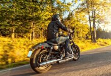 Motorcycle riding man photo