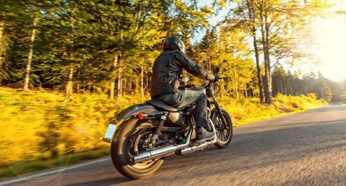 Motorcycle riding man photo