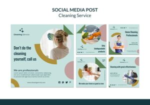 social media promotion for cleaning business