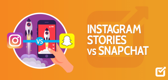 Snapchat and Instagram stories