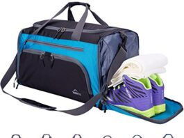 Backpack with shoe compartment