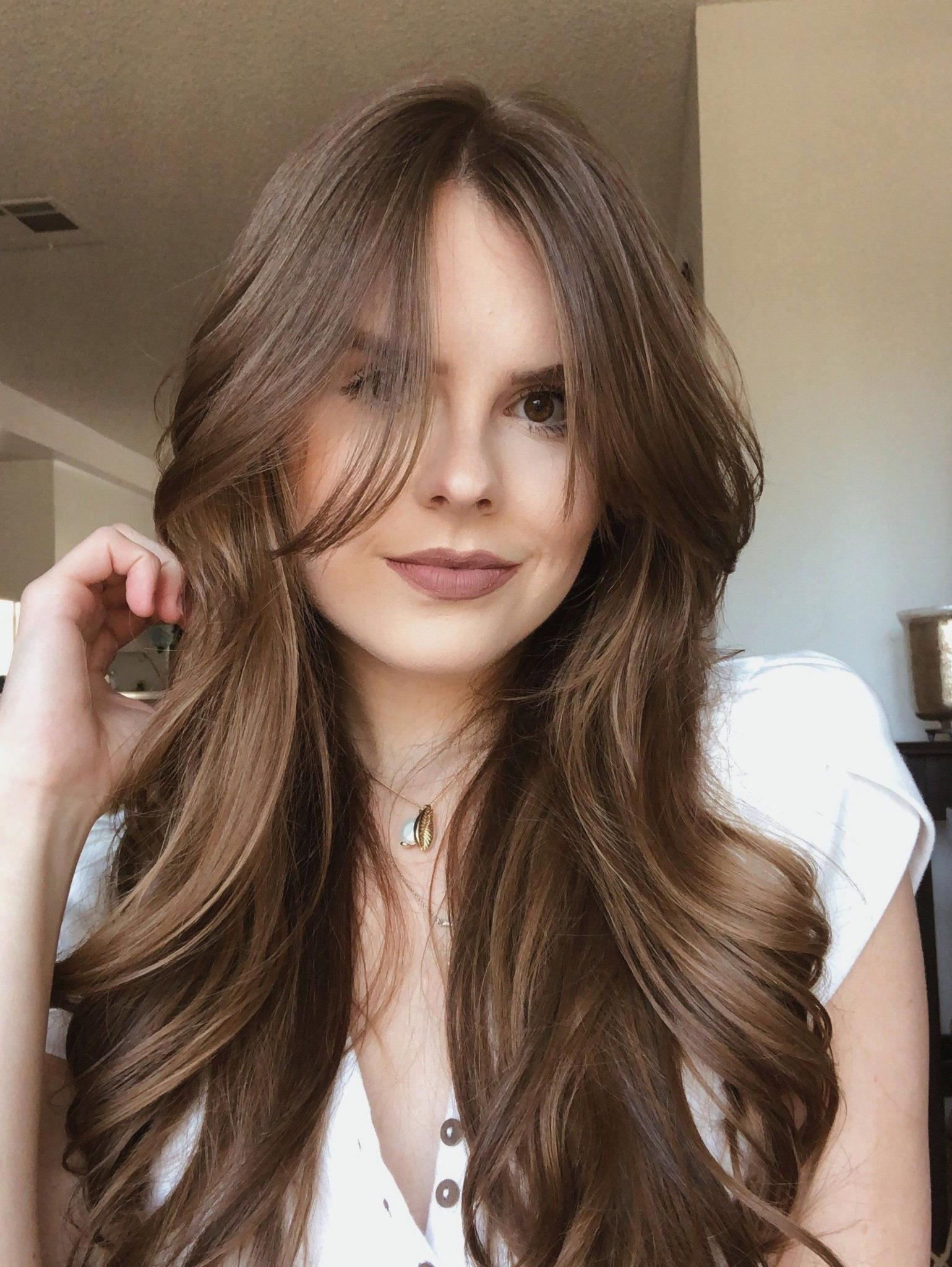 Long Layered Hair With Curtain Bangs