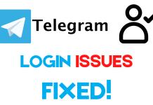 Telegram login issues