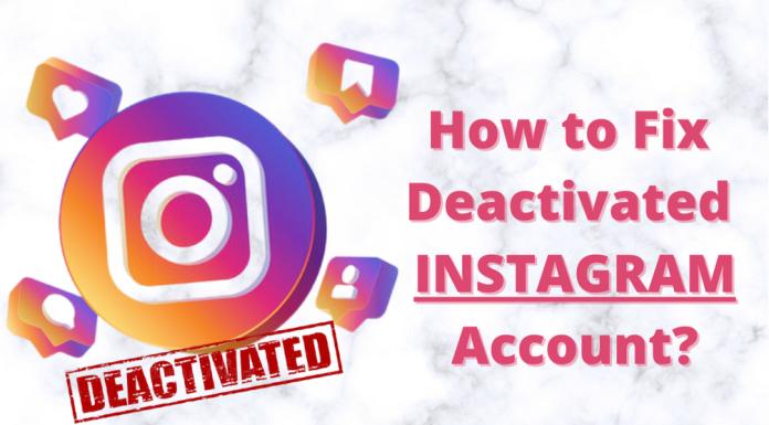 Deactivated Instagram Account